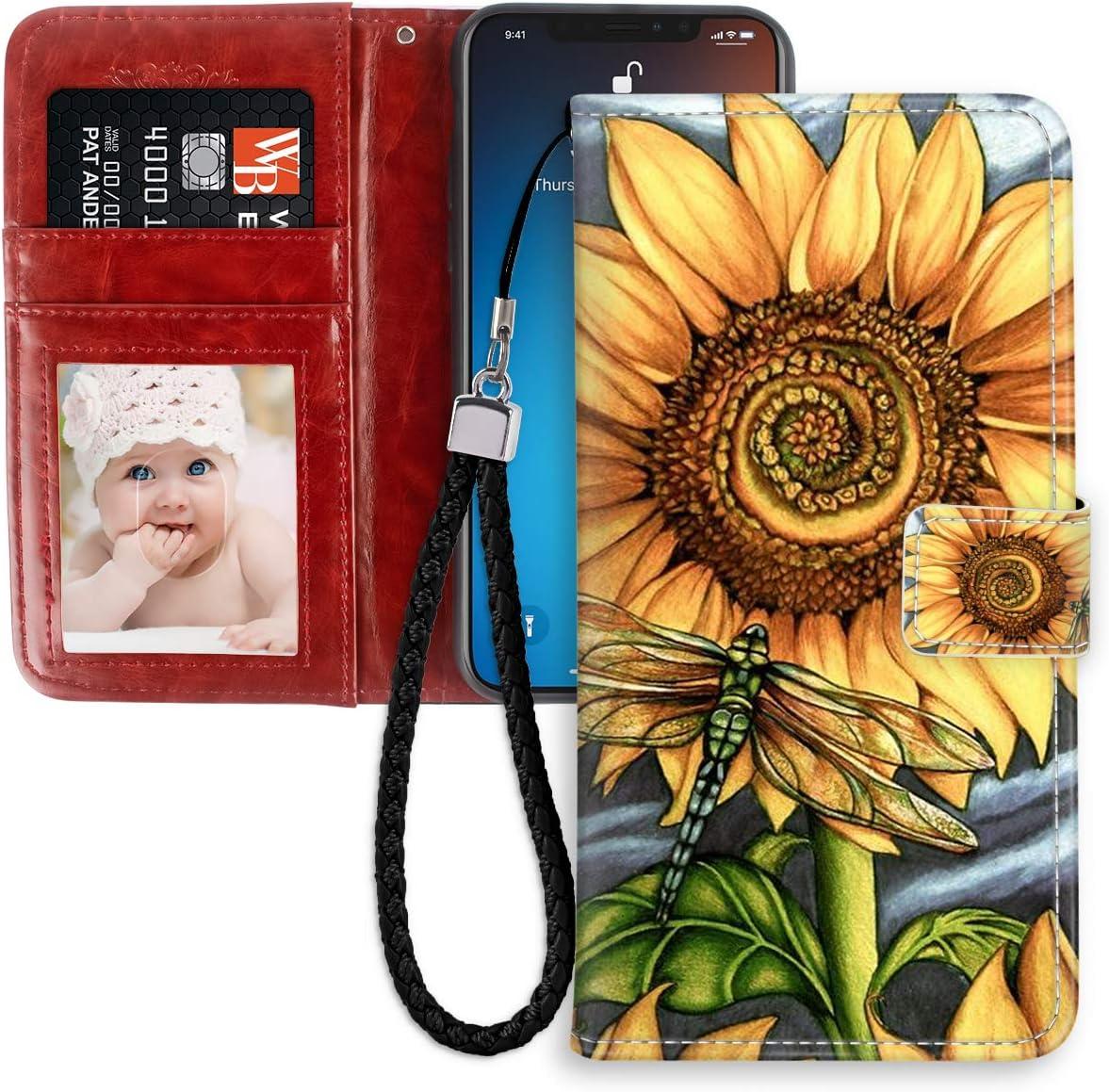 7 PLUS 5 7 Flowers RFID Phone Wallet Case iPhone X Se Galaxy Note
