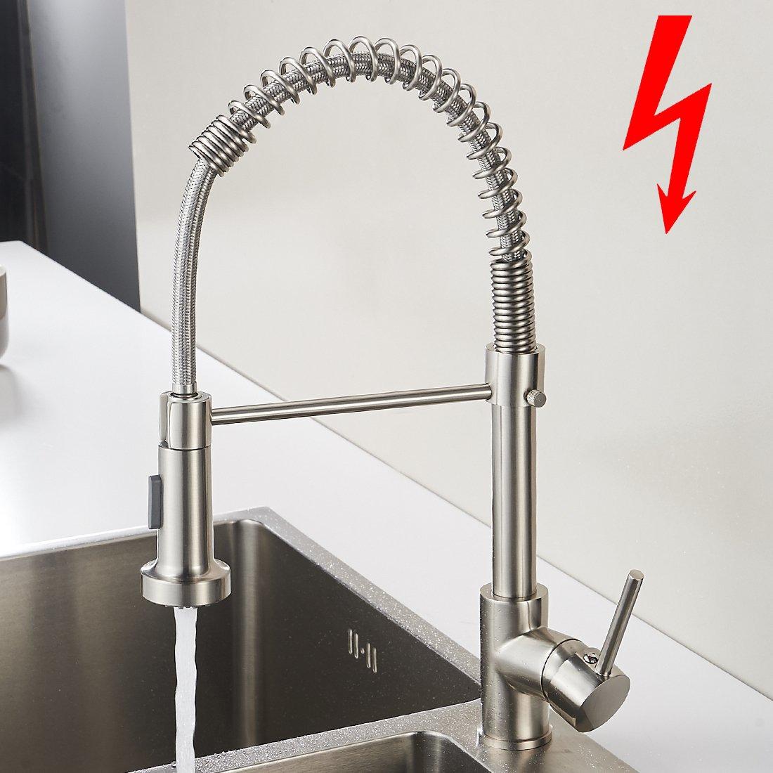 Aimadi Niederdruck Mischbatterie Küchenarmatur Wasserhahn 360 ...