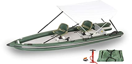 Amazon.com: Sea Eagle FSK16 FishSkiff16 - Toldo hinchable ...
