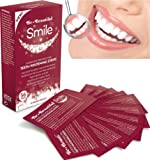 56 Teeth Whitening Strips, Zero Peroxide & Chlorite, Enamel Safe, Mint Flavoured Dissolvable Whitening Strips, Easy to Use Rapid 15 Minute Professional Treatment, Whitens & Shines Teeth, Refreshes Breath & Kills Oral Bacteria, Safest 5 Star UK Made Pharmaceutical Grade Proven by Consumer Trials |SUPER SAVER! ONLY £9.95 FOR 56 STRIPS-NO OUTER BOX| FREE UK DELIVERY