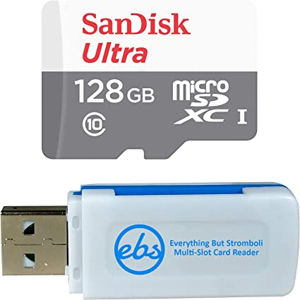 SanDisk Ultra 128GB MicroSDXC Verified for Plum Sync 4.0 by SanFlash 100MBs A1 U1 C10 Works with SanDisk