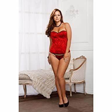 66ec9a258 Amazon.com  iCollection Women s Plus-Size Victorian Brocade Padded ...