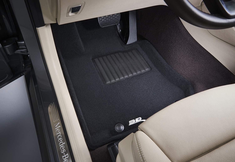 Black F16 Kagu Rubber // X6 F15 3D MAXpider L1BM05511509 Front Row Custom Fit All-Weather Floor Mat for Select BMW X5 Models
