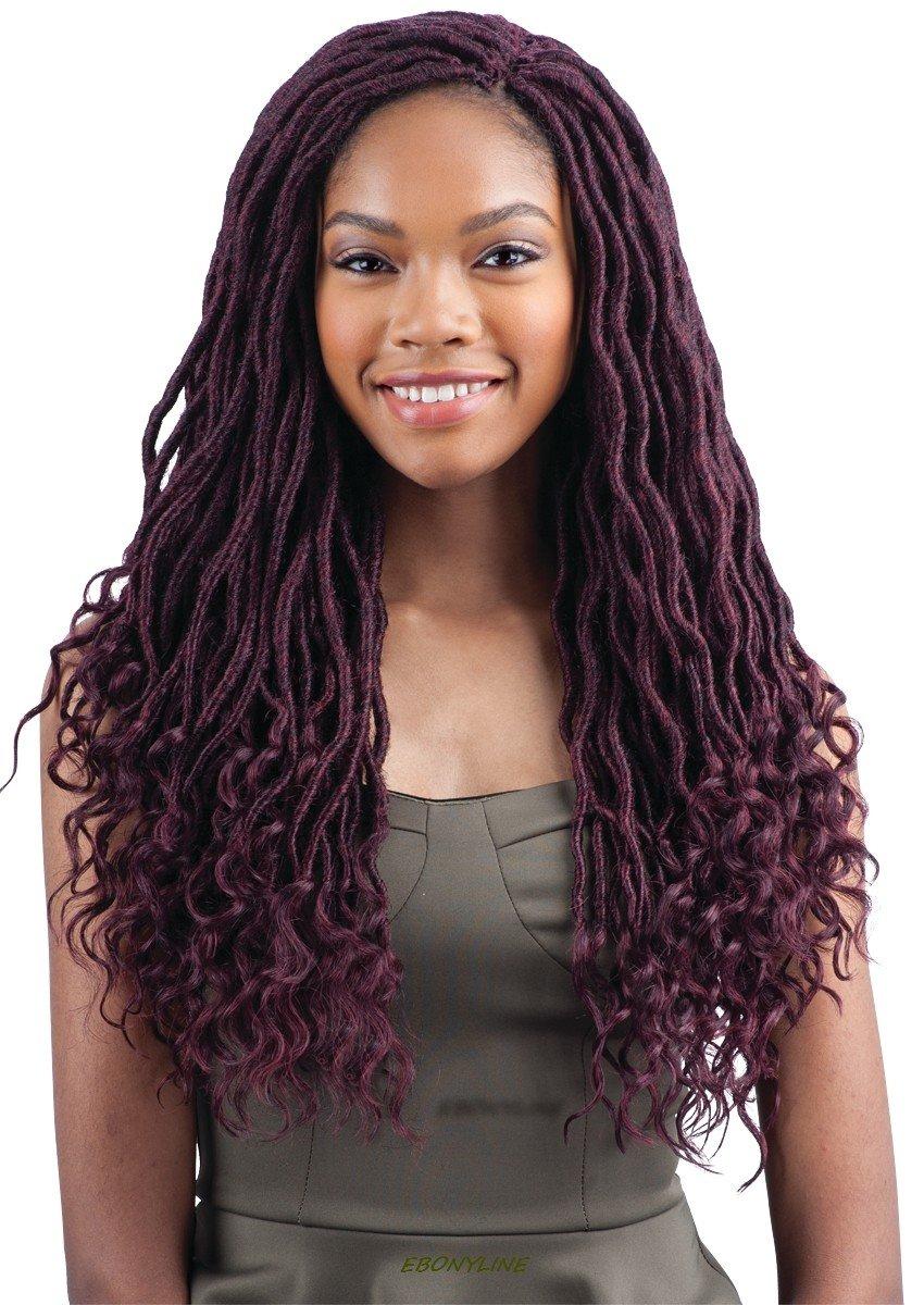 "FreeTress Goddess Loc 18"" Synthetic Crochet Braiding Hair (1B)"