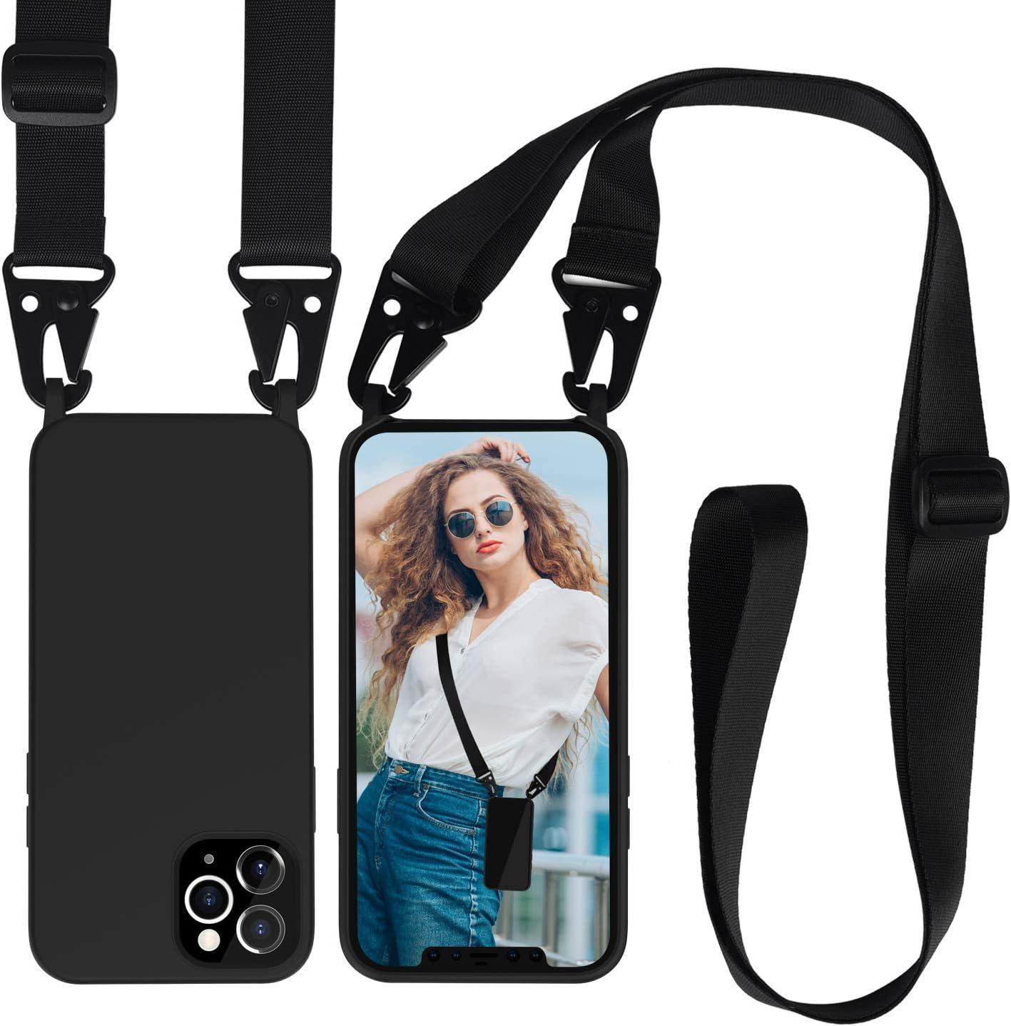 Allenett Iphone 12 Handyhüllen Mit Umhängeband Elektronik