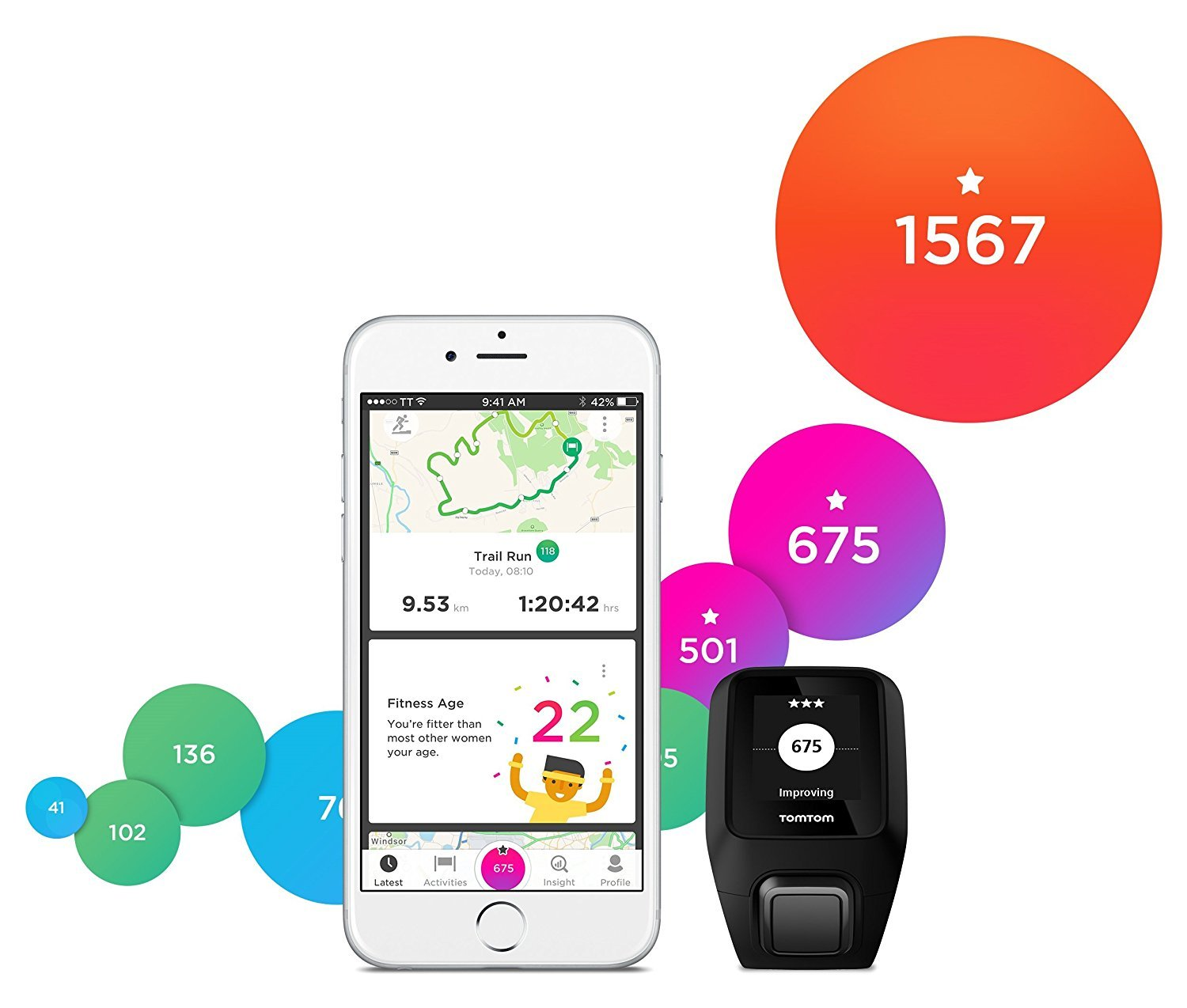 TomTom Spark 3 Cardio + Music, GPS Fitness Watch + Heart Rate Monitor + 3GB Music + Bluetooth Headphones (Black, Large) by ZHNVT (Image #7)