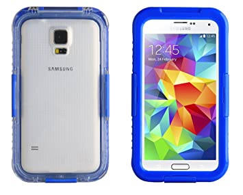 first rate 25c3f 5358e Blue Salamander Waterproof Capsule Case for Samsung Galaxy S5 / S5 Neo, S4  and S3