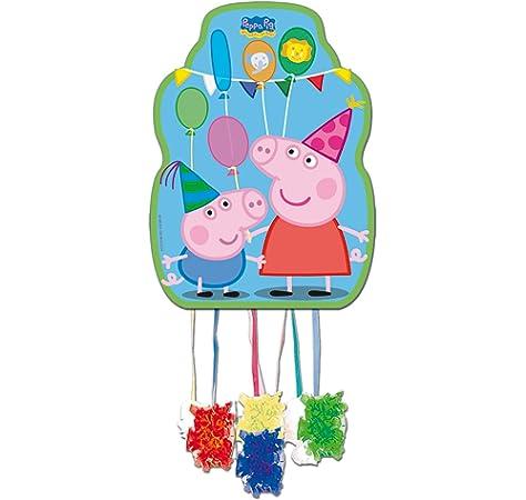 4249c8391 Peppa Pig - Piñata perfil, 33x46 cm para cumpleaños y  celebraciones(Verbetena 016000730)