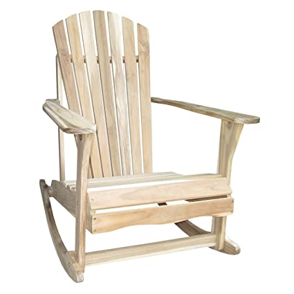 International Concepts Adirondack Rocker, Unfinished