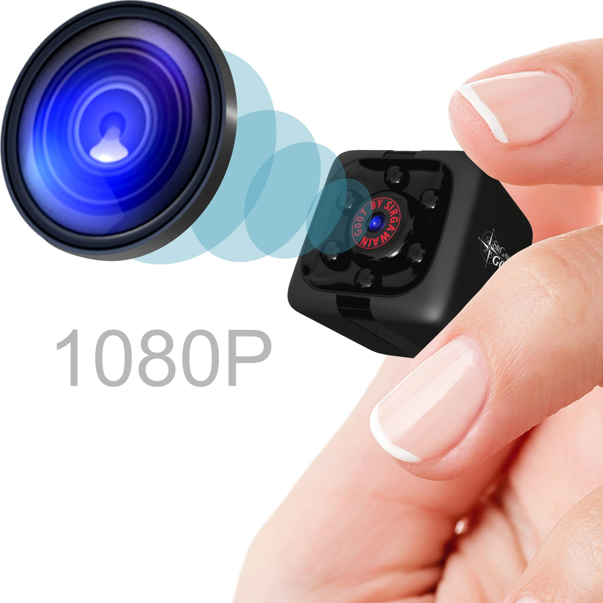 Mini Spy Camera 1080P Hidden Camera | Portable Small HD Nanny Cam with Night Vision and Motion Detection | Perfect Indoor Covert Security Camera for Home and Office | Hidden Spy Cam | Built-in Battery by SIRGAWAIN