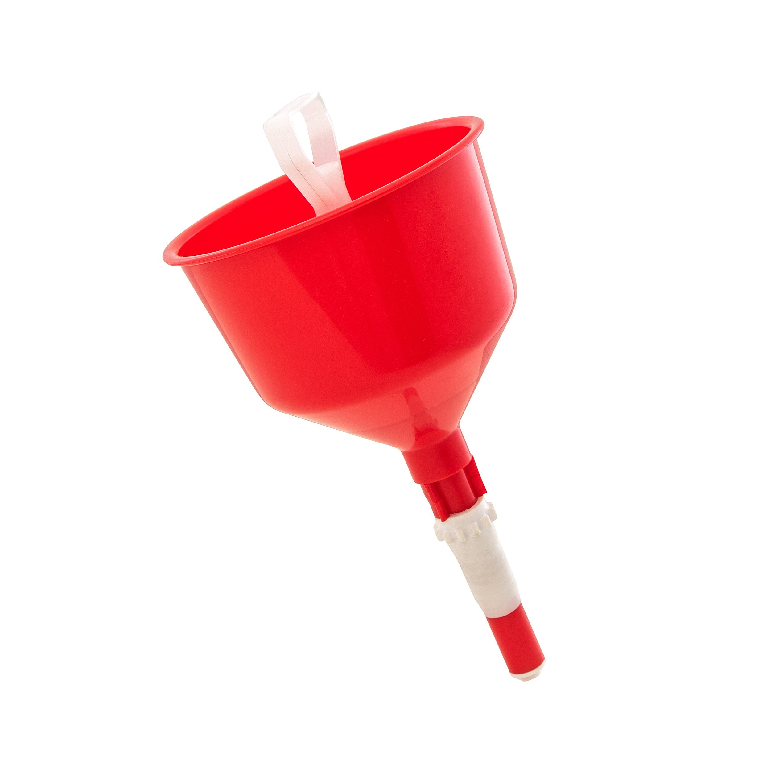 No Spill Funnel (with strainer): Best Grip, Liquid Stopper - 5 inch Plastic Funnel - cup holds up to 750 ml or 25.36 US fl oz