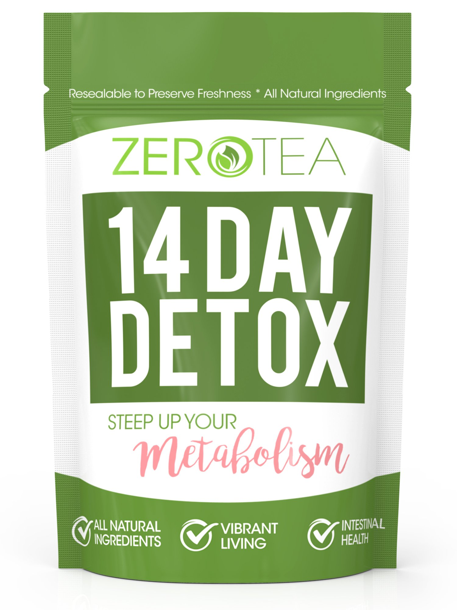 Zero Tea 14 Day Detox Tea, Weight Loss Tea, Teatox Herbal Tea for Cleanse by Zero Tea
