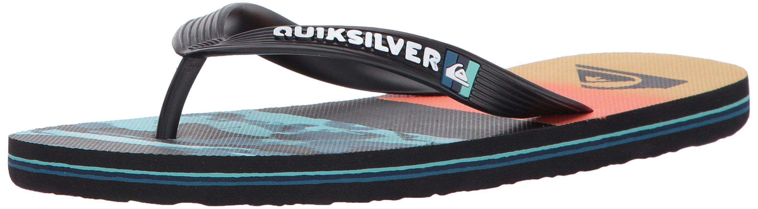 Quiksilver Men's Molokai Resin Camo, Black/Orange/Blue, 11 M US
