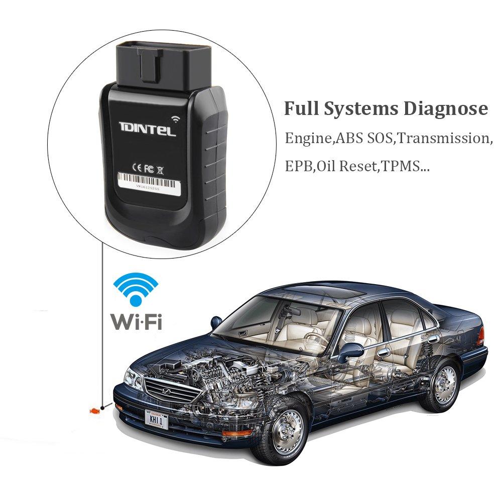incluyendo prueba Motor//ABS//recargable//luz de aceite reset//servicio luz Reset etc. WiFi vpecker easydiag v10.2/veh/ículo OBD2/herramienta de diagn/óstico esc/áner de c/ódigo de sistema completo profesional para Automotive