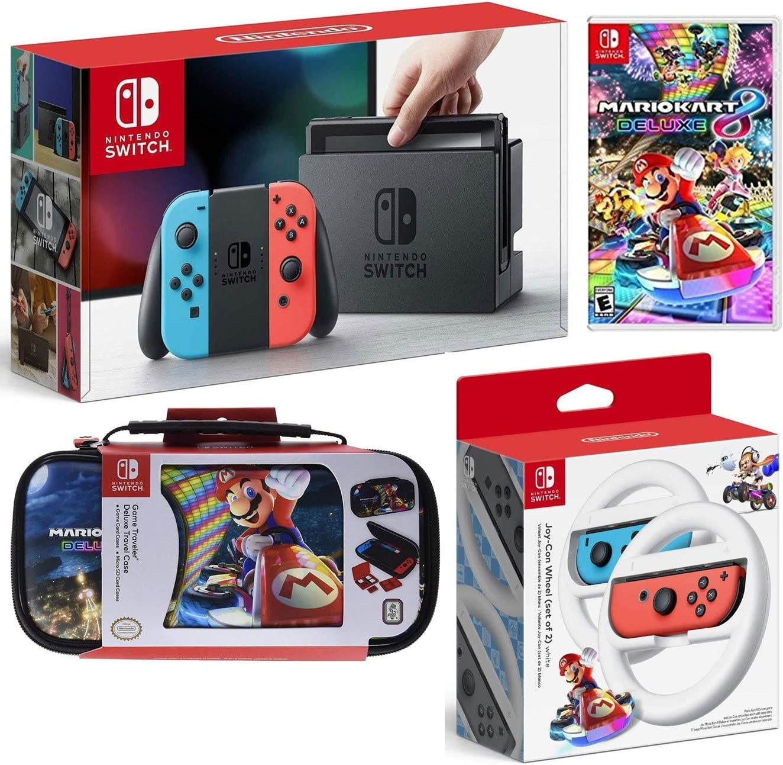 Amazon Com Nintendo Switch Mario Kart 8 Deluxe Bundle