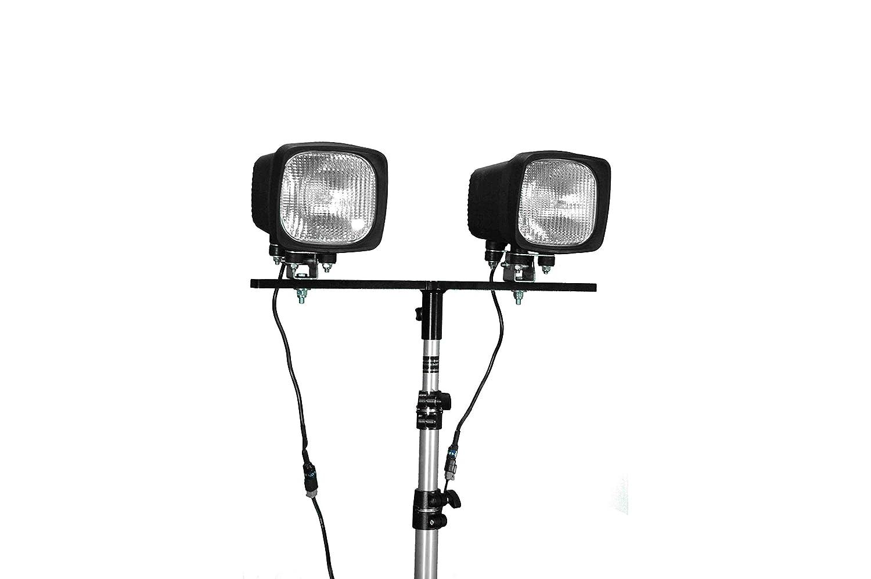 12,600 Lum HID Work Light 2 X 70 Watt HID Flood Light -3 to 8 feet Trailer Hitch Bracket Mount -Black-Flood-Ring Terminal