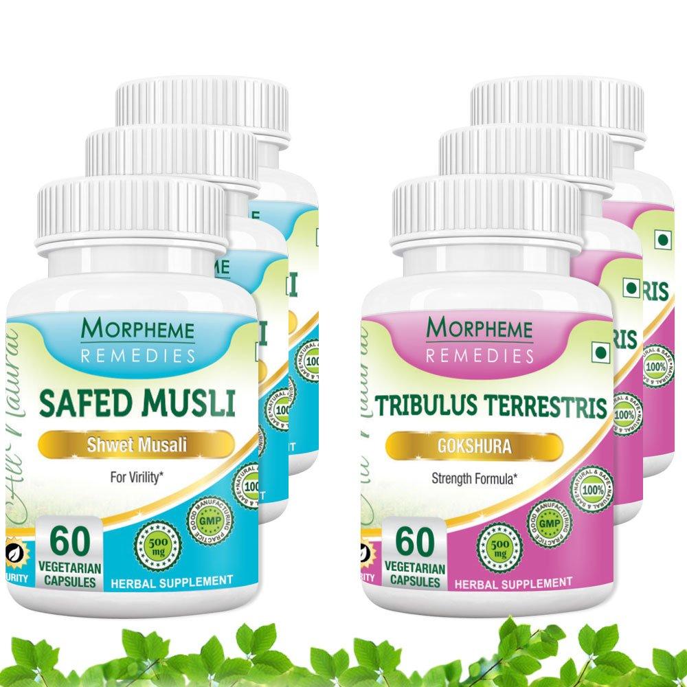 Morpheme Safed Musli + Tribulus Terrestris (6 Bottles)
