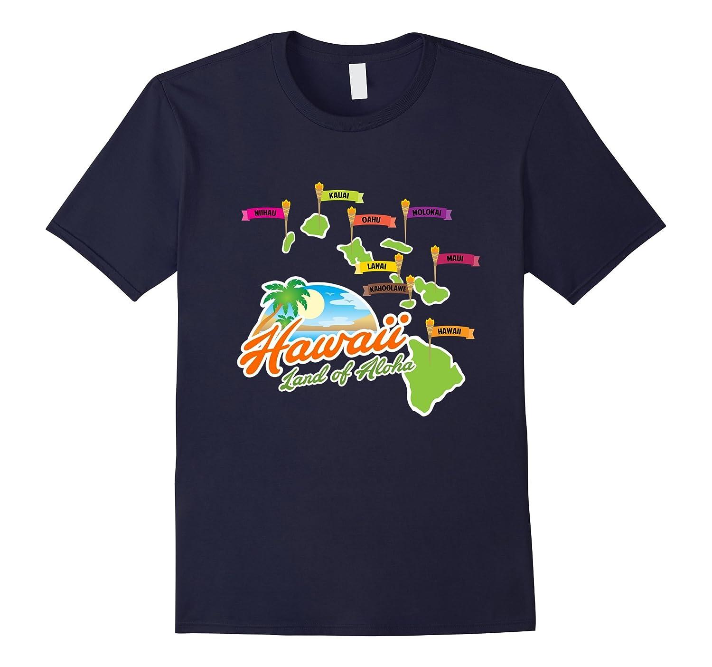 Hawaiian Islands T-Shirt - Hawaii Land of Aloha Graphic Tee-T-Shirt