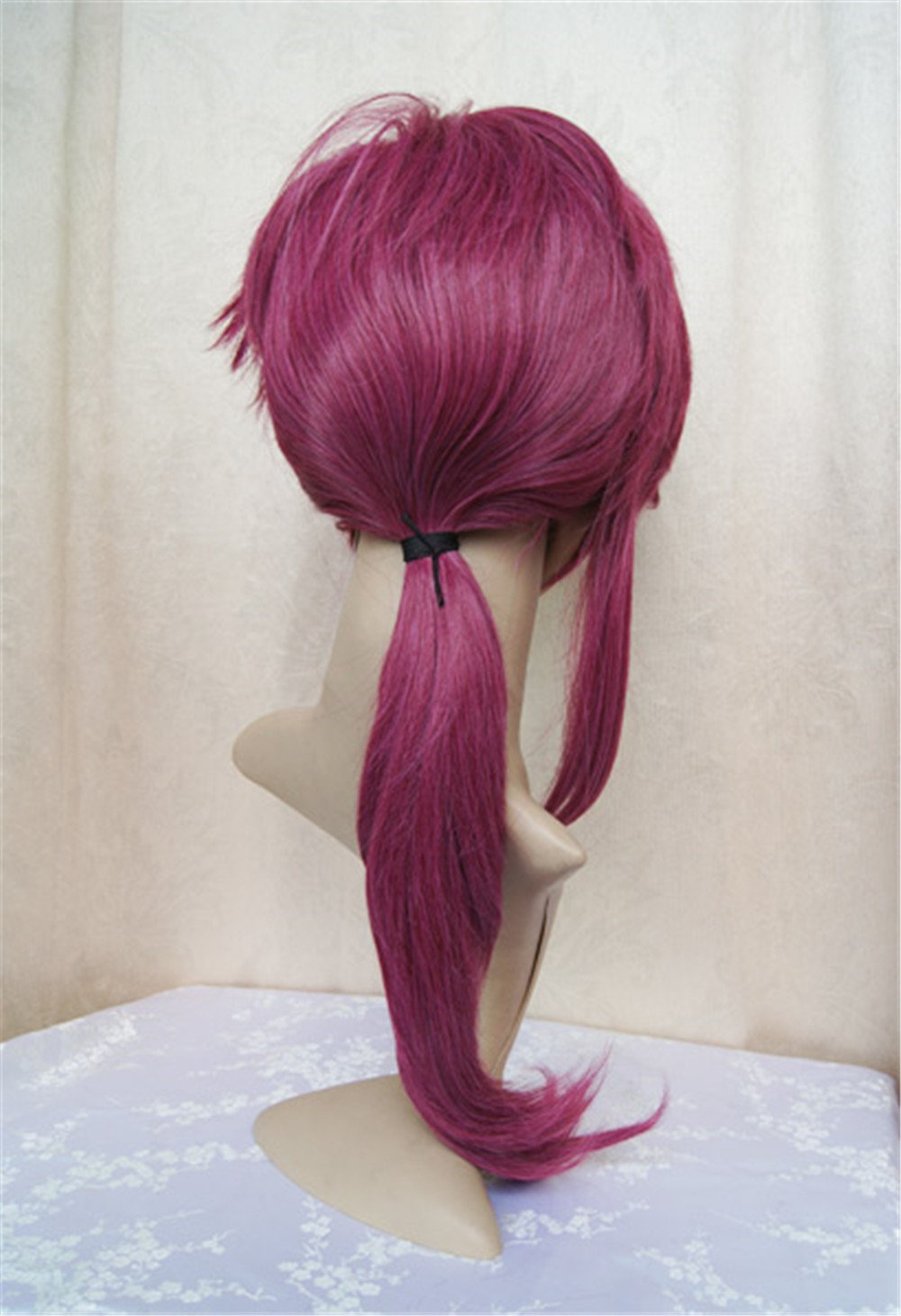 LanTing Cosplay Peluca BRAVE-10 Yuri Kamanosuke Wine Red Long Cosplay Party Fashion Anime Human Costume Full wigs Synthetic Cabello Heat Resistant Fiber ...