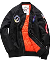 Men top military army green motorcycle letterman air force Windbreaker jacket pilot bomber flight jacket thick