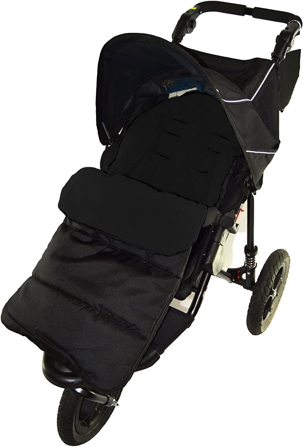 Footmuff//Cosy Toes Compatible with Phil /& Teds Dot Pushchair Black Jack