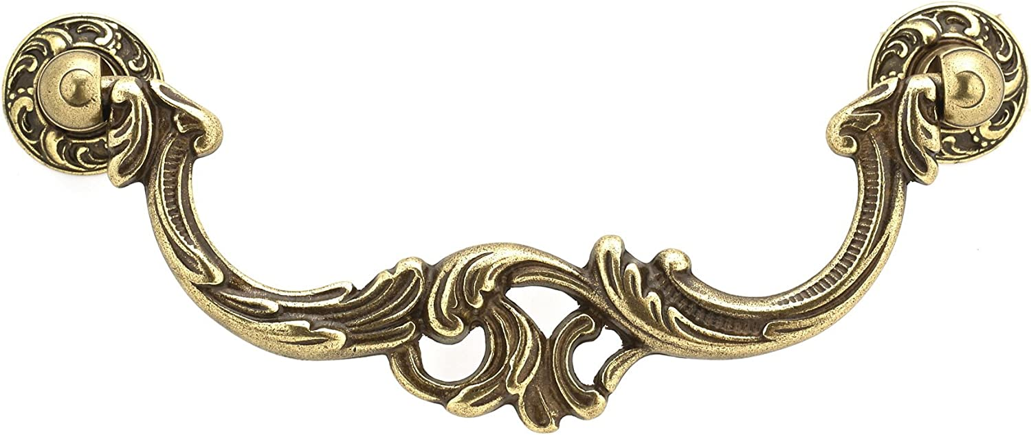 Burnished Brass  Finish 3004-108 mm Richelieu Hardware BP3004108BB Traditional Solid Brass Pull