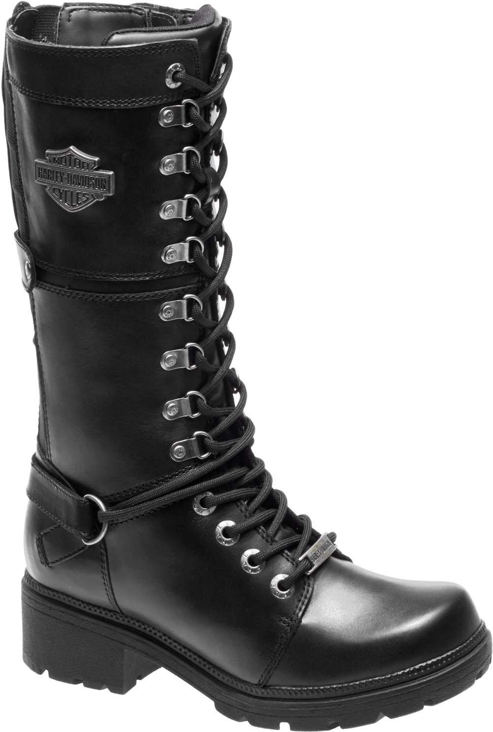 HARLEY-DAVIDSON Women's Harland Work Boot, Black, 8 M US by HARLEY-DAVIDSON