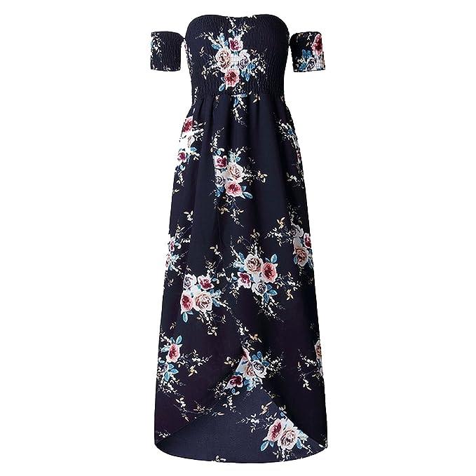 f20905de66d3 Dress-shop Summer Elegant Tunic Women Boho Beach Party Floral ...