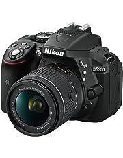 """Nikon D5300 Fotocamera Digitale Reflex + Nikkor AF-P 18/55VR, 24.1 Mbps, LCD HD da 3"""" Regolabile, SD da 8GB, 300x Premium Lexar, Nero [Nital Card: 4 Anni di Garanzia]"""