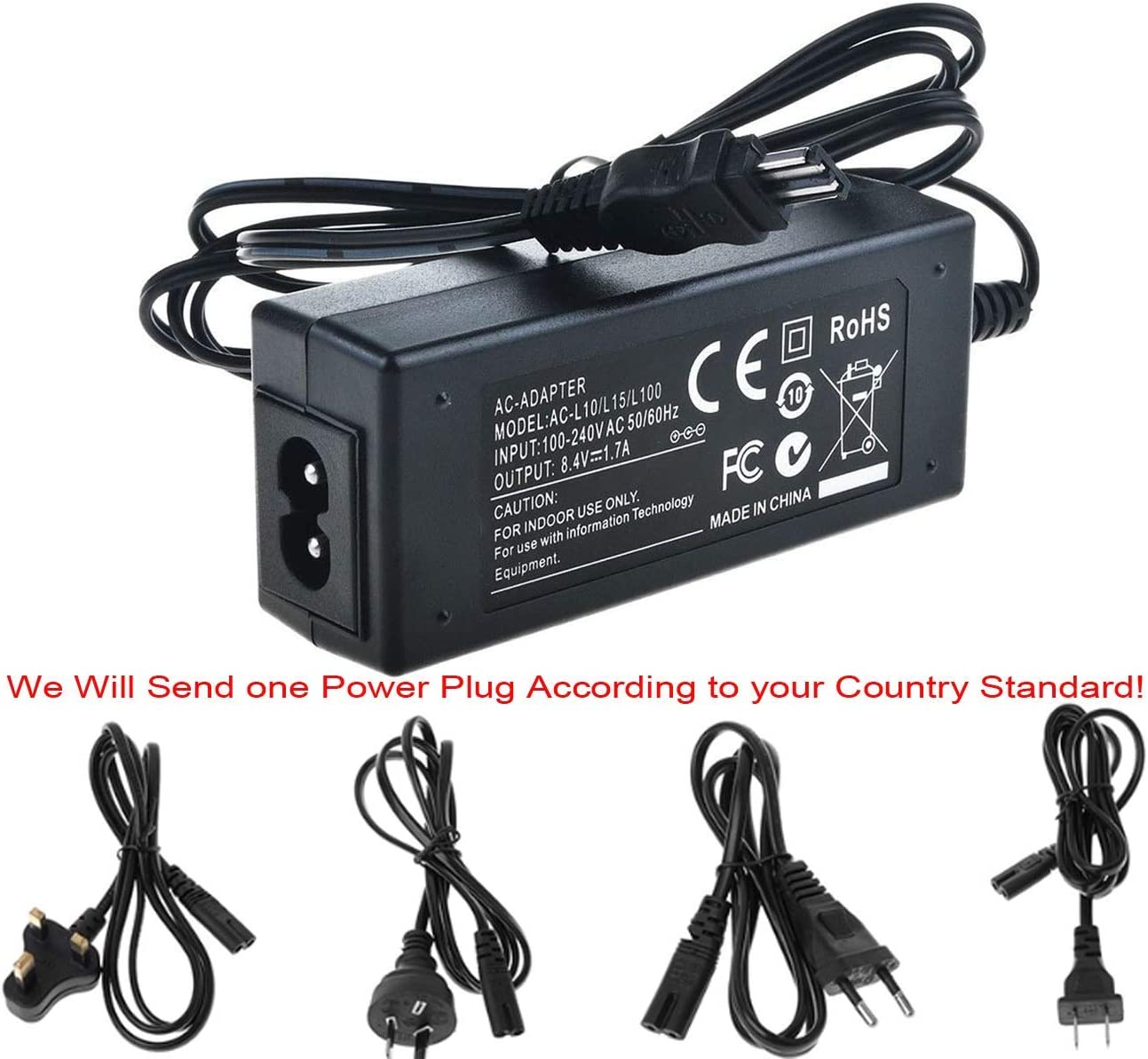 DCR-PC104 DCR-PC105 MiniDV Handycam Camcorder AC Power Adapter Charger for Sony DCR-PC101 DCR-PC103