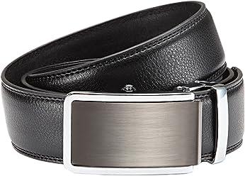 Eg-Fashion Herren Anzug Gürtel mit Automatikschließe 3,5 cm Breite Echtleder Business-Gürtel - Herren Automatikgürtel