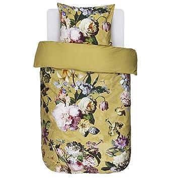 Essenza Bettwäsche Fleur Gold Gelb Blumen Blüten Baumwollsatin