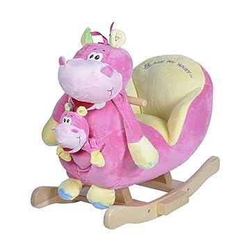 schaukeltier rosa Nilpferd Holzspielzeug
