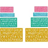 Westcott Letter Craft Plastic Lettering Stencil Guide Set - 8 Pieces