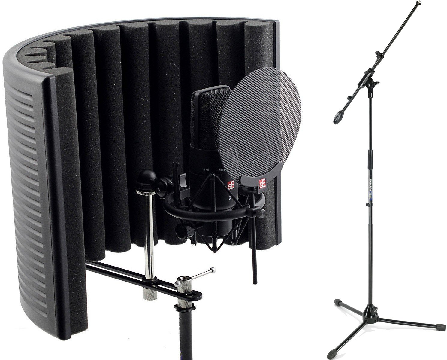 sE Electronics X1 LDC Studio Bundle with Shock Mount, Pop Filter, RF-X Reflexion Filter, and Cable