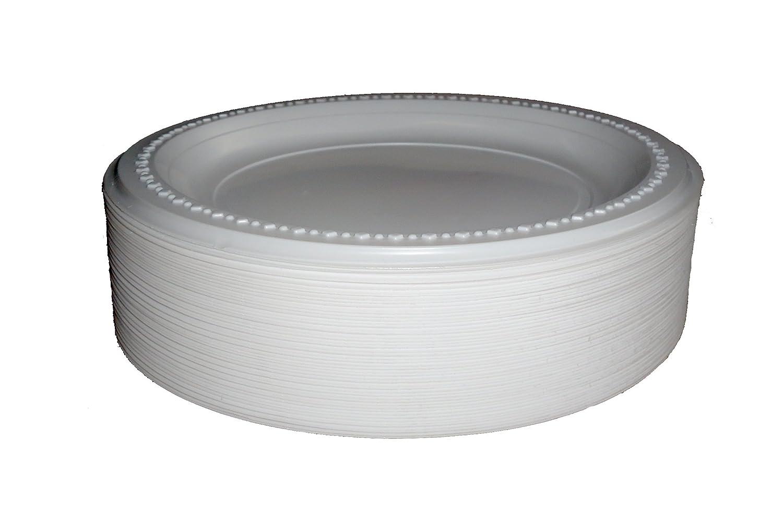 eLITe 100 hochwertige Einweg-Plastikteller, 23 cm
