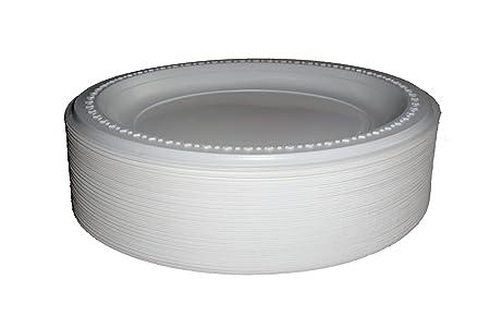 100 White Disposable High Quality Plastic Plates X 9\u0027\u0027 (23CM) FREE DELIVERY  sc 1 st  Amazon UK & 100 White Disposable High Quality Plastic Plates X 9\u0027\u0027 (23CM) FREE ...
