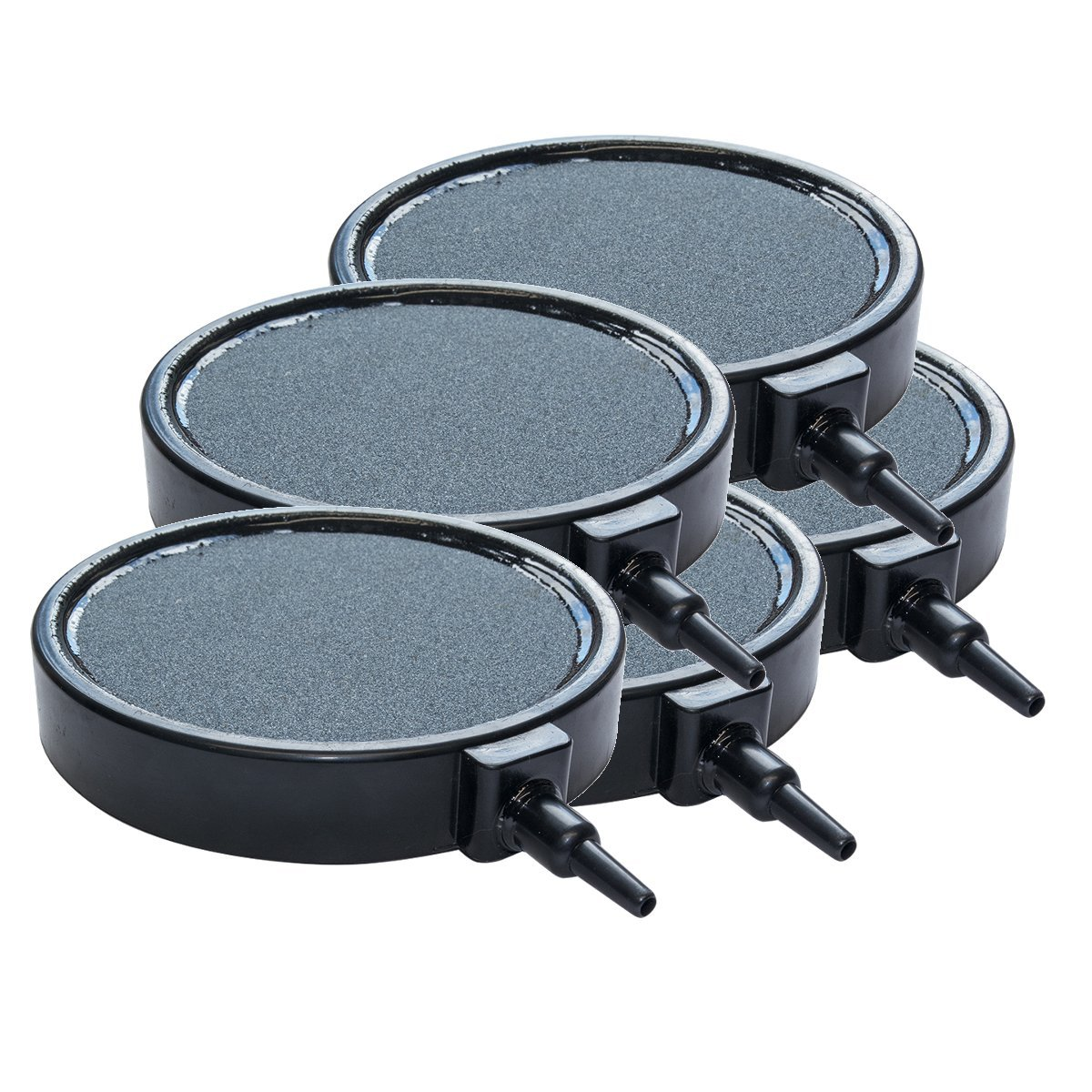 Pisces Pack of 5 100mm x 19mm Round Pond and Aquarium Air Stone Disc
