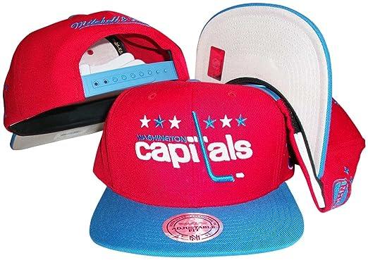 Amazon.com  Washington Capitals Red Blue Two Tone Snapback ... ac76c86cdc3