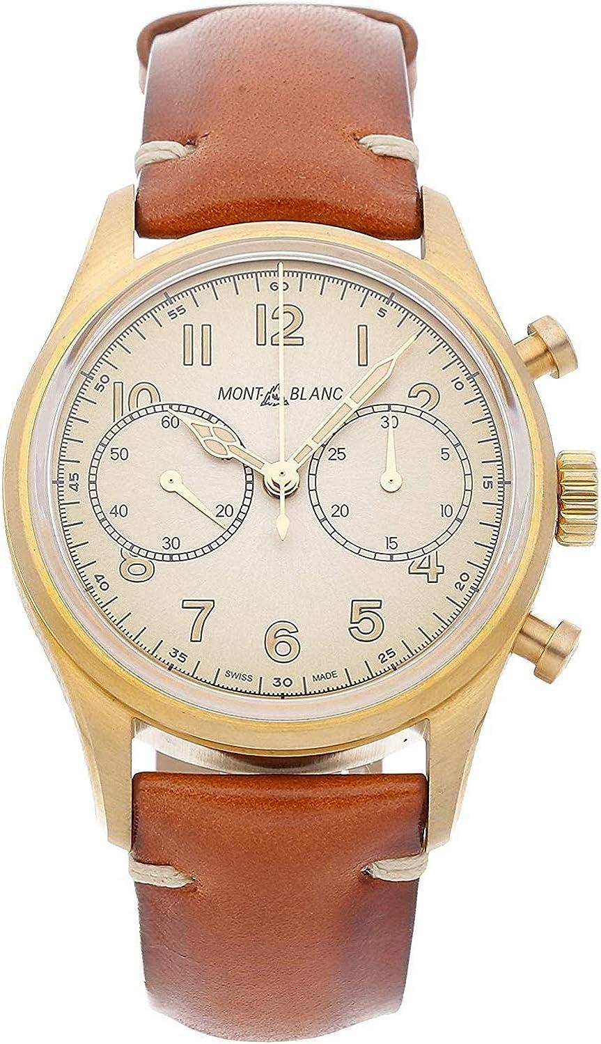 Montblanc 1858 Reloj de Hombre automático 42mm Correa de Cuero 118223