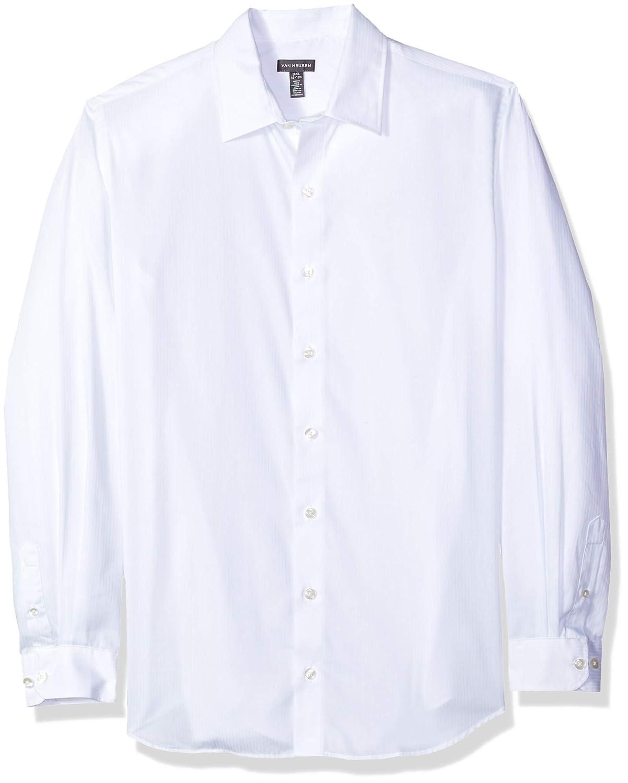 Van Heusen Mens Slim Fit Sateen Stripe Long Sleeve Button Down