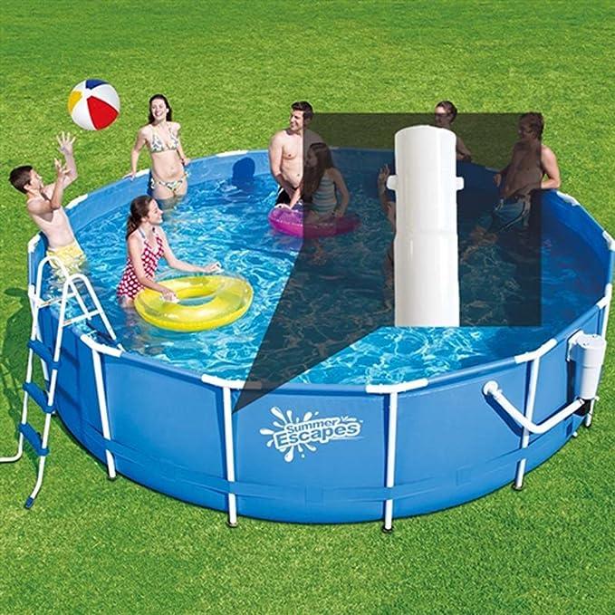 Verano Olas 52 Inch vertical pierna para 15 pies 16 pies 17 m 18 m 24 m Metal marco redondo piscinas: Amazon.es: Jardín