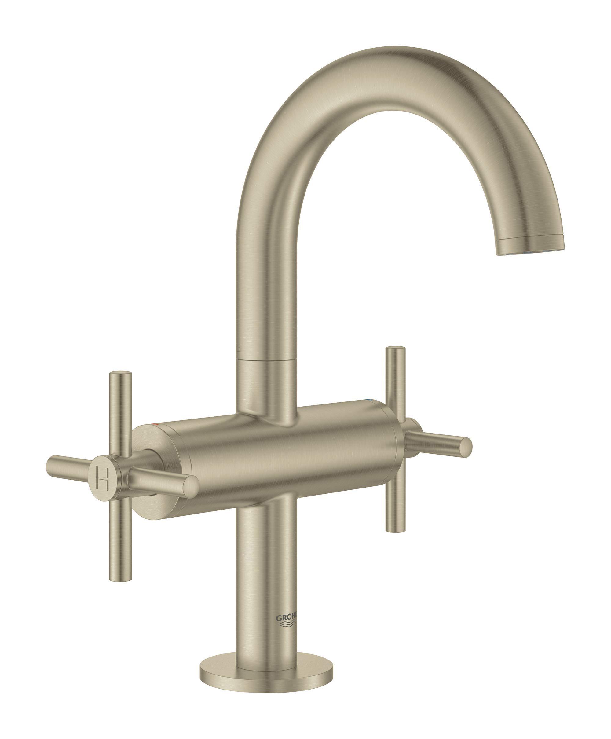 Grohe 18026EN3 Atrio Bathroom Faucet Cross Handles, Brushed Nickel by GROHE (Image #4)