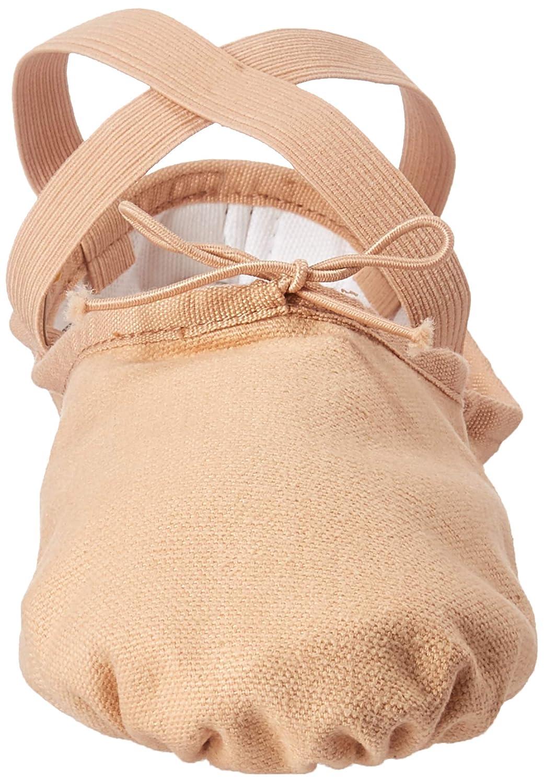 7.5 C US Flesh Bloch Womens Pump Split Sole Canvas Ballet Shoe//Slipper
