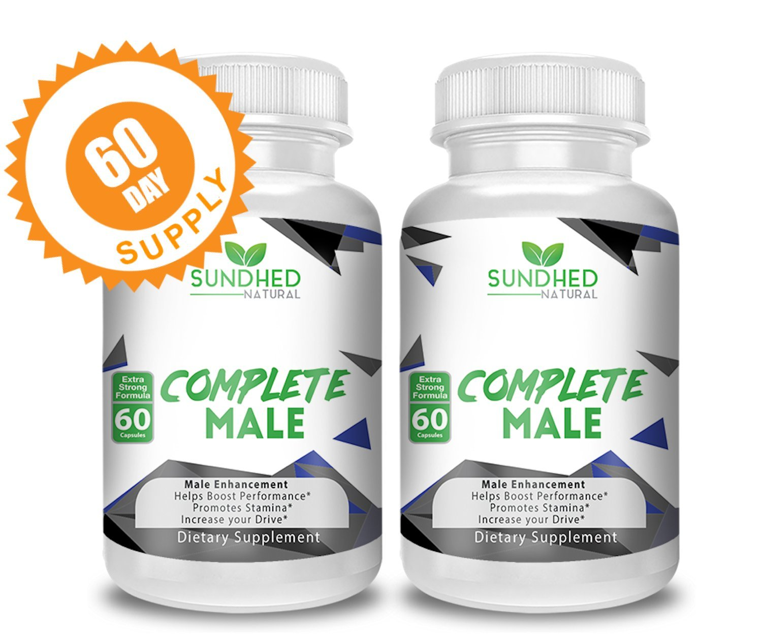 Sundhed Natural Complete Male (120 Veggie Caps) - All Natural Male Enhancement & Libido Supplement - Mens Vitality Boost Performance Promote Stamina & Increase Your Drive - 60 Day Supply
