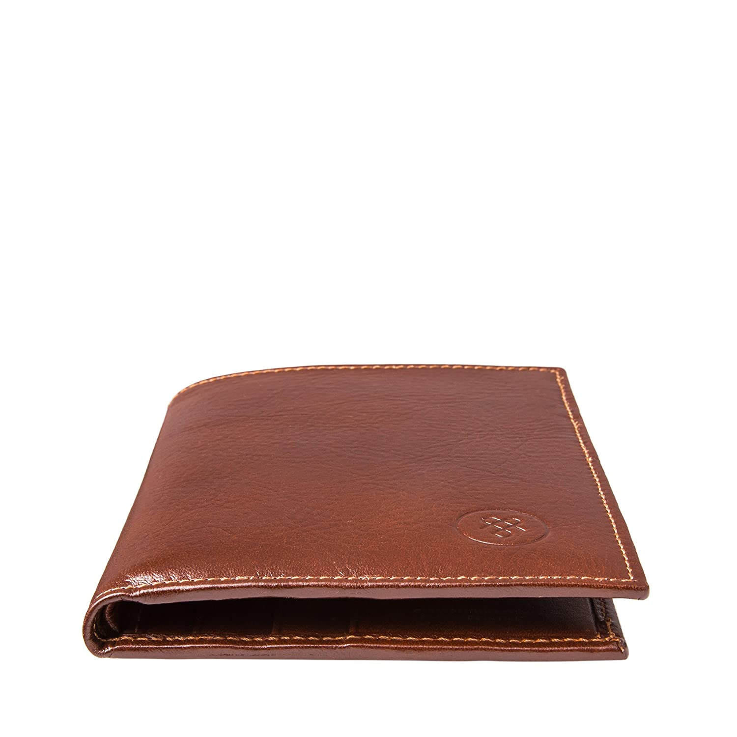 Amazon.com: Maxwell Scott Personalized Tan Leather Credit Card Wallet (The Salerno): Clothing