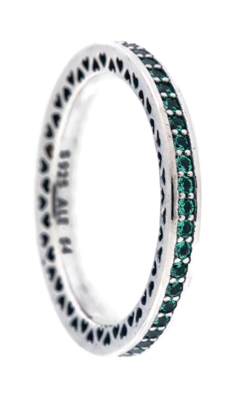 Radiante corazones de Pandora anillo, brillante verde menta esmalte y cristales Royal verde 191011 nrg-52 UE, 6 US: Amazon.es: Relojes
