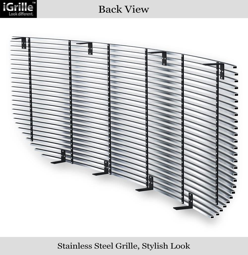 APS Compatible with 2016-2018 GMC Sierra 1500 Stainless Steel Main Upper Billet Grille G86362C
