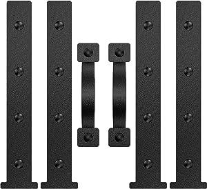 YOGO Magnetic Decorative Garage Door Accents | Faux Hinges Handles Hardware Kit | Black