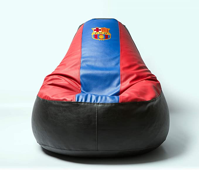 Barcelona Football Beanbag Comfortable Kids Adult Game Outdoor Indoor Lounge Chair Cover Inner Bag Without Beans Kitchen Dining